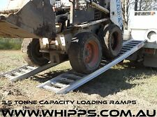 3.5 Tonne Capacity Machinery Bobcat Loading Ramps 3.6 metres x 350mm track width