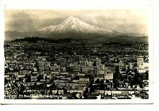 Mount Hood-Aerial View-City of Portland-Oregon-RPPC-Vintage Real Photo Postcard