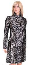 NEW KAREN MILLEN CR069 FAUX PONY SKIN LEOPARD PRINT JACKET MULTI COAT 4 8 36