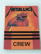 METALLICA Laminated CREW Backstage Tour Pass - JUMP IN THE FIRE