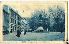 ts 141 1931 TRIESTE Monumento a Domenico Rossetti - Filiale FIAT - viagg.