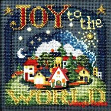 "Mill Hill Buttons Beads Cross Stitch Kit 5"" x 5"" ~ JOY TO THE WORLD Sale #148301"