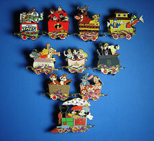 Character Train Mystery Tin Collection Complete Set of 10 Pins Mickey Toy Story