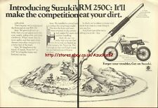 Suzuki RM250c Motorcycle 1977 Magazine Advert #2978