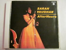 SARAH VAUGHAN AFTER HOURS 1995 ISSUE JAPAN IMPORT 10 TRACK RARE CD JAZZ VOCALIST