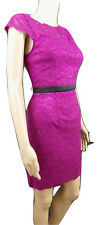 BNWT ADRIANNA PAPELL HAILEY LOGAN LACE SHIFT DRESS SIZE 12 PINK CERISE COCKTAIL