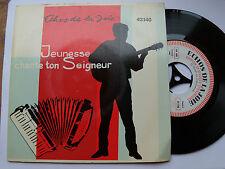 """LES CAMPEURS DE BERTRIMOUTIER: jeunesse chante...- 7""""  ECHOS DE LA JOIE 43210"""