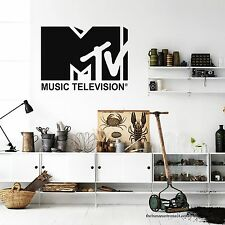 MTV Music Television Wall Decal Stickers Instant Modern Home Wall Sticker Decal