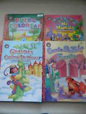 Spanish Coloring Books, Lot of 4 / Libros Para Colorear Españoles, Muchos de 4