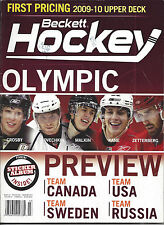 Olympic Preview on Cover Beckett Hockey Price Guide Feb'March, 2010 Issue # 216