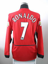 Cristiano RONALDO #7 Manchester United Home LS Football Shirt Jersey 2003/04 (L)