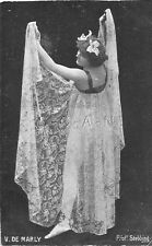 Original 1905-17 French Divided Back PC- Semi Nude Women- V. De Marley- Dancer