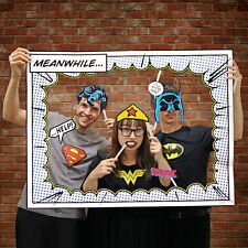 DC COMIC Superhero Photo Booth Props Includes Frame Batman Superman Wonder Woman