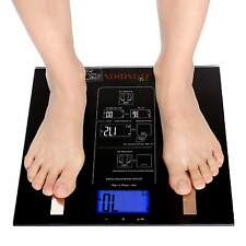 440lbs Multifunction LCD Digital Touch Bathroom Body Fat Weight Scale HOMDOX