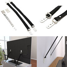2Pcs Furniture TV Strap Kit Secure Heavy Duty Flat Screen TV Anchor for Safety
