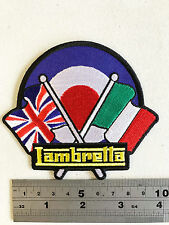 Lambretta Flags/Target Patch  - Embroidered - Iron or Sew On
