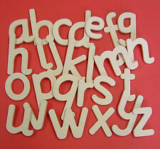 Lower case wooden alphabet large letters templates one full alphabet quality
