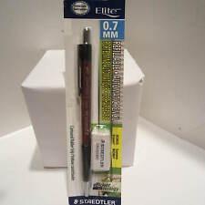 Staedtler Elite 9707S RED Mechanical Pencil, 0.7 mm, Spare Eraser-Blister packed