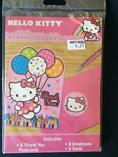 Hello Kitty Party Supplies-Thank you Notes-8ct..