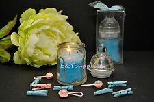 6 Blue Baby Bottle Candle Shower Favor Gift Scented Candle Favors decorations