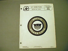 "Vintage Arctic Cat Grass Cat 20"" Hand Push A2010 Parts Manual"