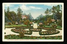 Lakewood, New Jersey NJ Vintage postcard Georgian Court The Puzzle Garden 1918