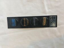 Blizzcon 2007 4 Pin Set Goodie Bag Exclusive Blizzard New on Card