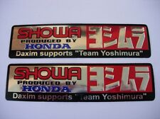 3D chrome HONDA / YOSH / SHOWA stickers decal - set of 2 pieces
