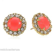 kate spade new york Secret Garden Gold-Plated Geranium Stud Earrings WBRU9445
