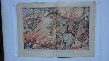 COMPOSITION DE DAMBLANS INCENDIE DU CIRQUE SARRASANI A ANVERS ELEPHANTS  1932