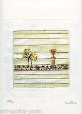 LOUTTRE B. BISSIÈRE GRAVURE 1978 SIGNÉE AU CRAYON NUM/60 HANDSIGNED NUMB ETCHING