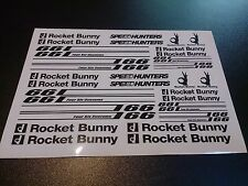 1/10 drift rc car stikers decals Black 2pcs! Rocket Bunny