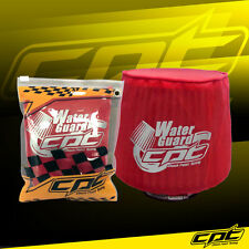 Universal Water Guard Cold Air Intake Pre-Filter Cone Filter Cover Red - Small