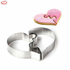 Love Heart Stainless Steel Cookies Cutter Cake Decor Biscuit Mould Mold Tool