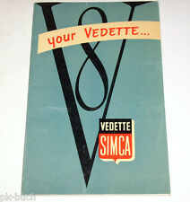Manuel Owner 's Manual simca vedette v8 trianon versailles, 03/1955
