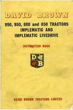DAVID BROWN TRACTOR 850 880 950 990 OPERATORS MANUAL