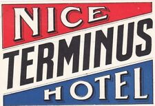 France Nice Terminus Hotel Vintage Luggage Label lbl0374