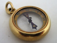 Antique Tiffany & Co. 18K Yellow Gold Compass Watch Fob