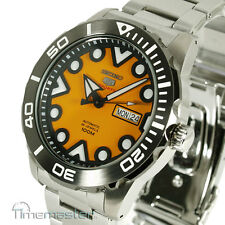 SEIKO 5 SPORTS AUTO STAINLESS STEEL DIVERS STYLE ORANGE FACE SRPA05K1