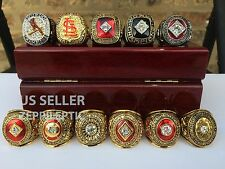 RARE! St. Louis Cardinals Championship Rings Set All 11 Collection PRIORITY SHIP