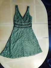 Green lace work Easter ladies women's Size 10 dress by Bisou bisou Work Church