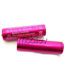 50 x AA 900mAh Ni-Cd 1.2V Rechargeable Battery Cell Rose Pink