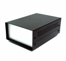 1pc All Aluminium Box Enclosure WD-330 20x13.8x7.3cm LxWxH Powder Coating Black
