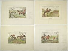 Edward King Color Proof Plates Diana Goes Hunting DERRYDALE FOX HUNTING 1941