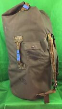 Vintage US Army Duffle Bag Nylon Or Canvas Camping Hunting Ditty Bag Distressed