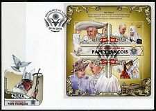 NIGER 2016 80th BIRTH OF ANNIVERSARY OF POPE FRANCIS SHEET  FIRST DAY COVER