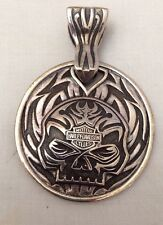 HARLEY DAVIDSON Double Sided Skull Pendant HDMC-P001 with Box