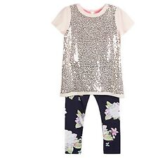 Ted Baker Girls Sequin Top And Leggings Set. 4-5 Years. BNWT. Designer.