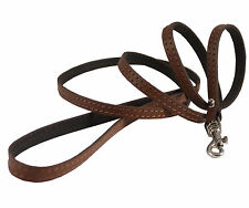 "Genuine Leather Dog & Cat Leash 45"" long 3/8"" wide for Small Breeds"
