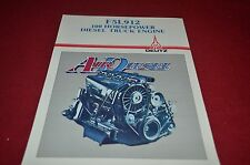 Deutz F5L912 Diesel Truck Engine Dealer's Brochure YABE10